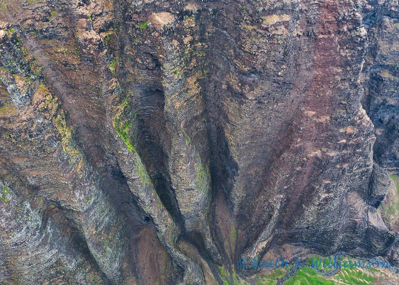Napali Canyon wall (over a thousand foot drop)