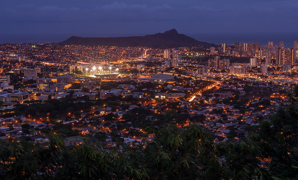 Diamond Head at dusk