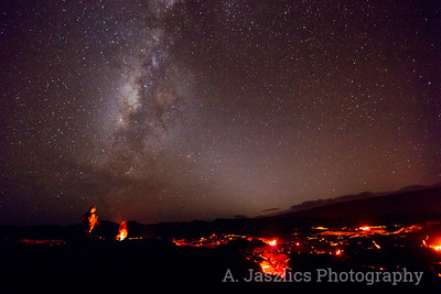 Lava Flow and Milky Way