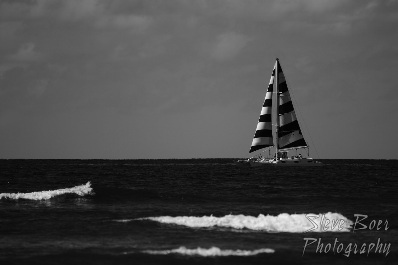 Sailboat by Waikiki