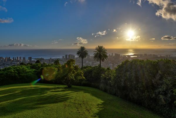 Late afternoon over Honolulu