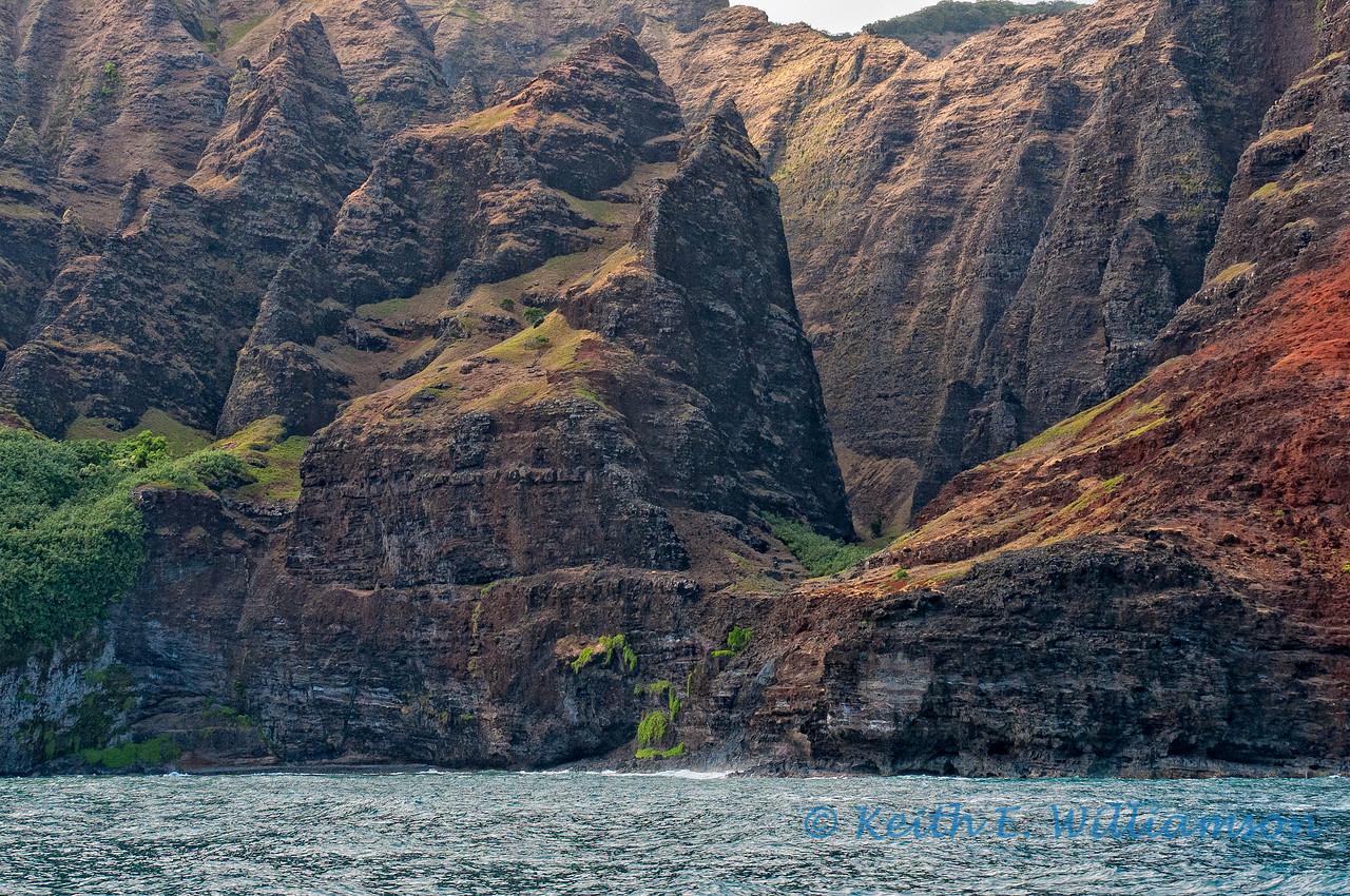 The rugged Na Pali coast