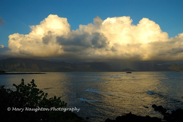 Rain Clouds, Kaneohe Bay, Hawaii