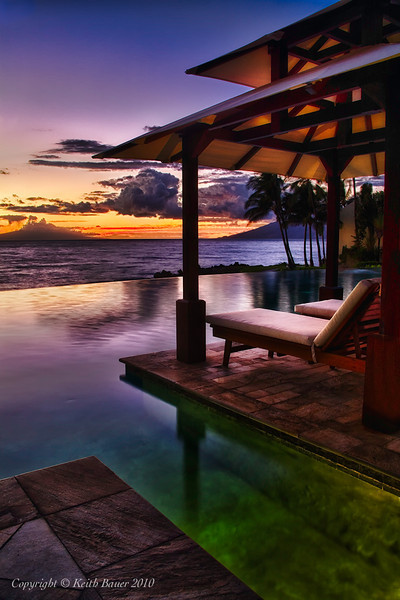 Sunset at the Infinity Pool