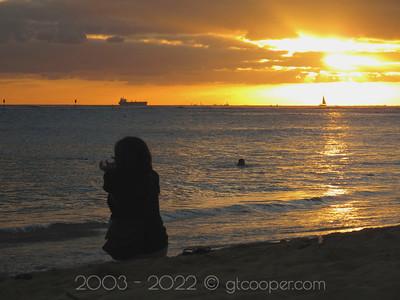 """Hawaiian Sunset"" Honolulu, Oahu, Hawaii"