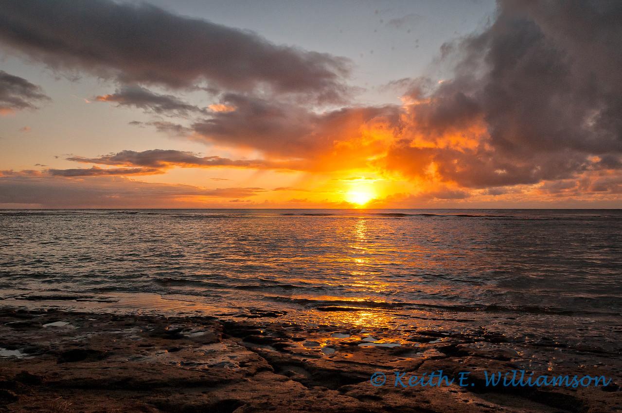 Sunset from Ke'e beach