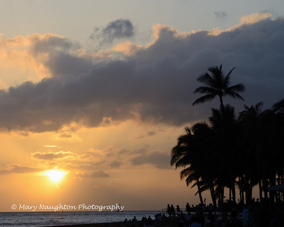Sunset, Waikiki Beach