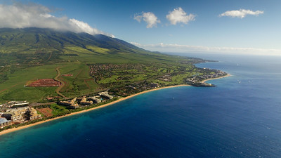 Aerial View of Maui from Drone