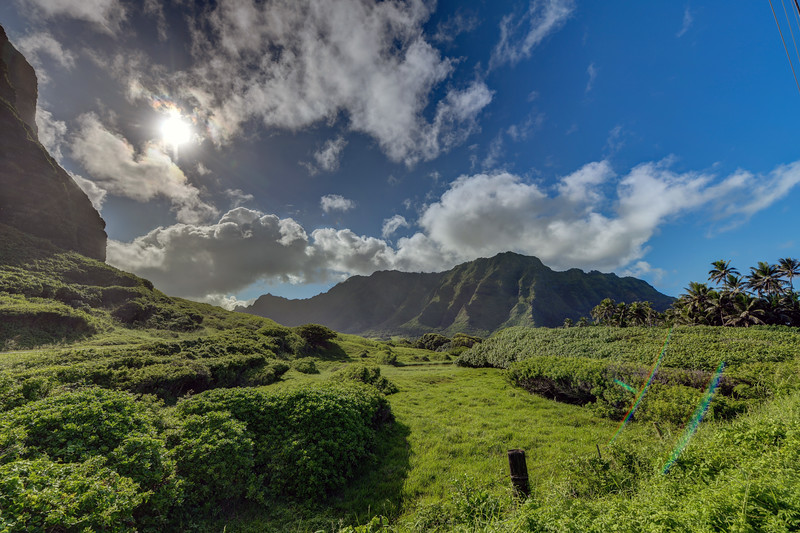 Sun over Koʻolau Range