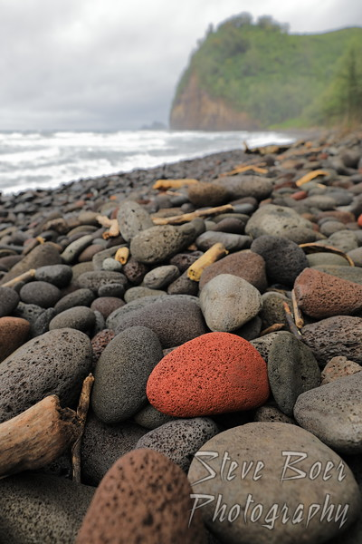 Red Rock on Beach in Hawaii