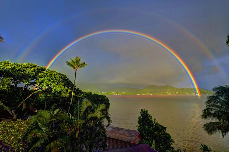 Morning rainbow, Kahaluʻu Oʻahu
