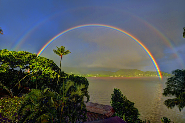 Morning rainbow, Kahaluʻu Oʻahu