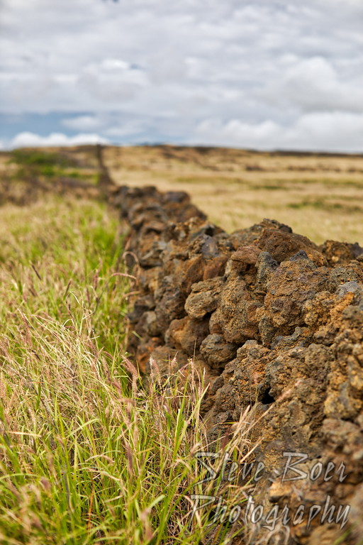 Lava Rock Fence