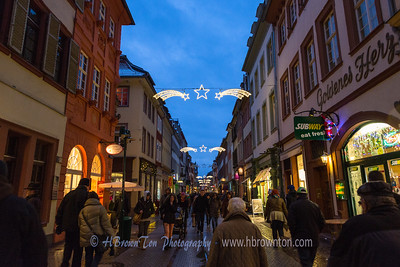 Down the busy Hauptstraße