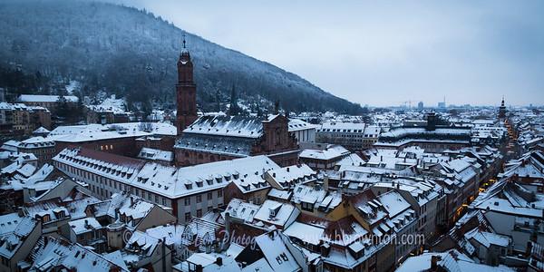 Overlooking Heidelberg -- Jesuit Church in background