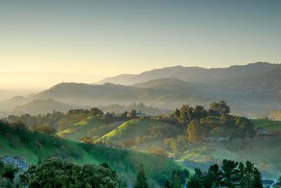 Acalanes Ridge - Sunrise Looking Southwest