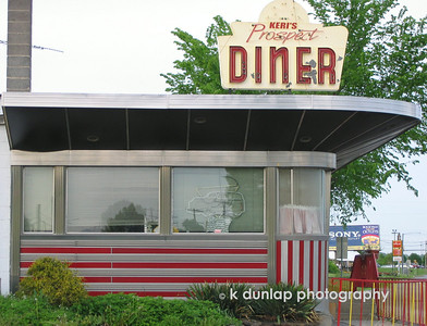 This diner is along The Lincoln Highway in Pennsylvaina. I just loved the art deco design.  There were no cars in the lot and I thought it was empty.  I got out and starting taking pictures of it when this woman came running out and yelling at me.  I told her I just loved the design and that it was for my use only.  First time that has happened/  Ooops.