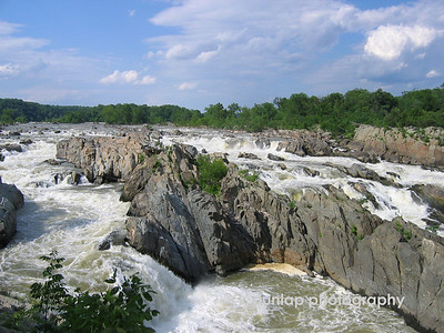 This was taken in Great Falls Virginia.  It seems as if you are in the middle of grand wilderness but in actuality, Washington DC is just beyond the tree line.
