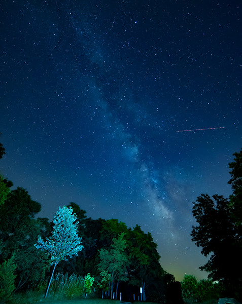 Milky Way and Plane lights