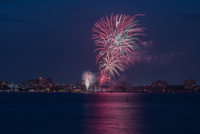 Canada Day 2015 Fireworks in Burlington, Ontario