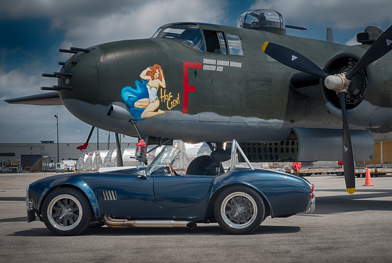 Shelby Cobra and Hot Gal