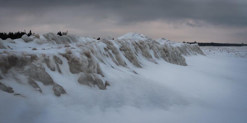 Ice Ridges on Lake Huron