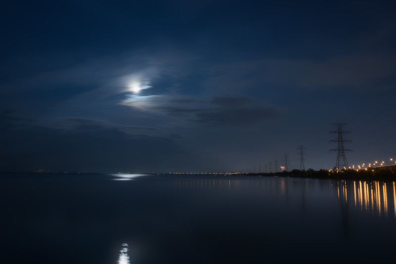 Hamilton Bay by Moonlight