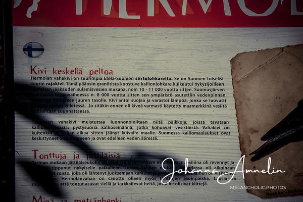 Hermolanvaha, yksi suurimmista siirtolohkareista Etelä-Suomessa