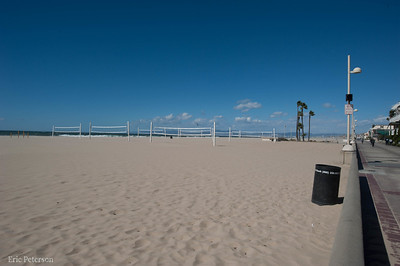 Beautify day for an empty beach.