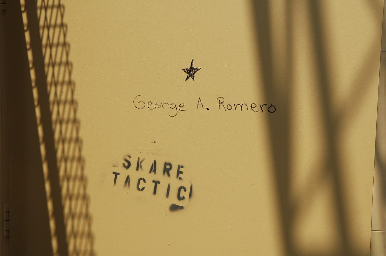 George Romero's star on Hollywood Blvd