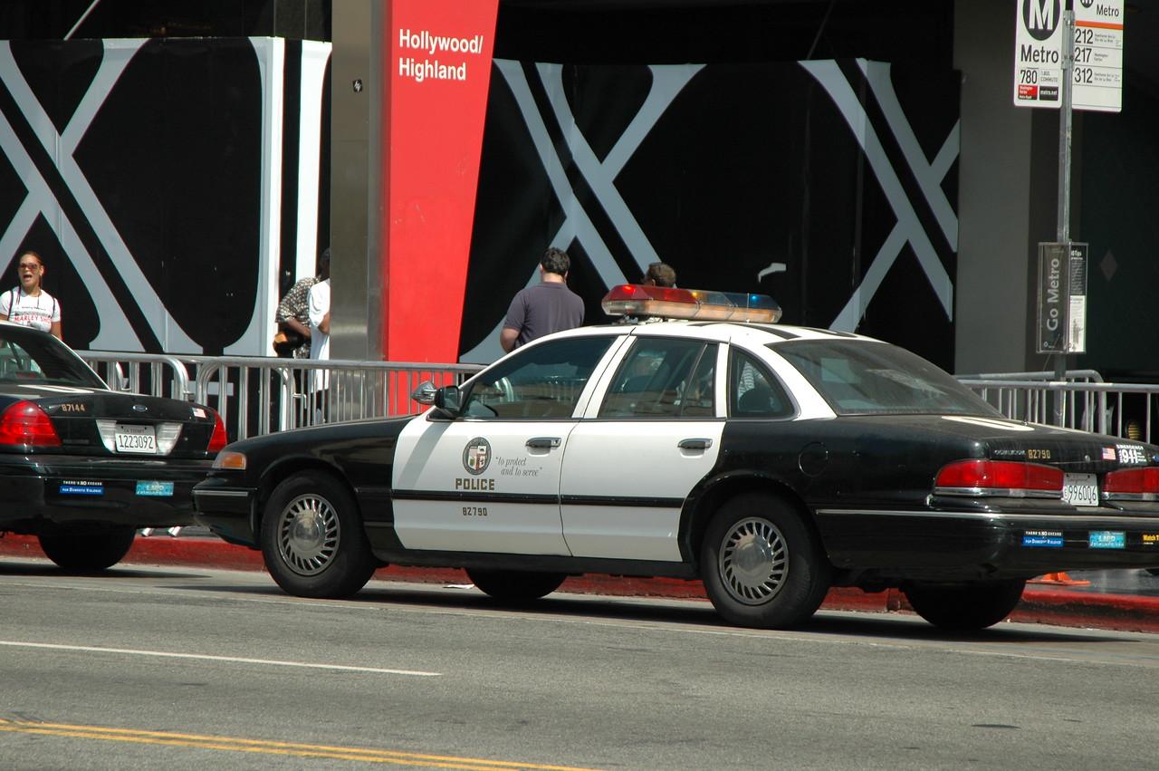 Police Cars on Hollywood Blvd