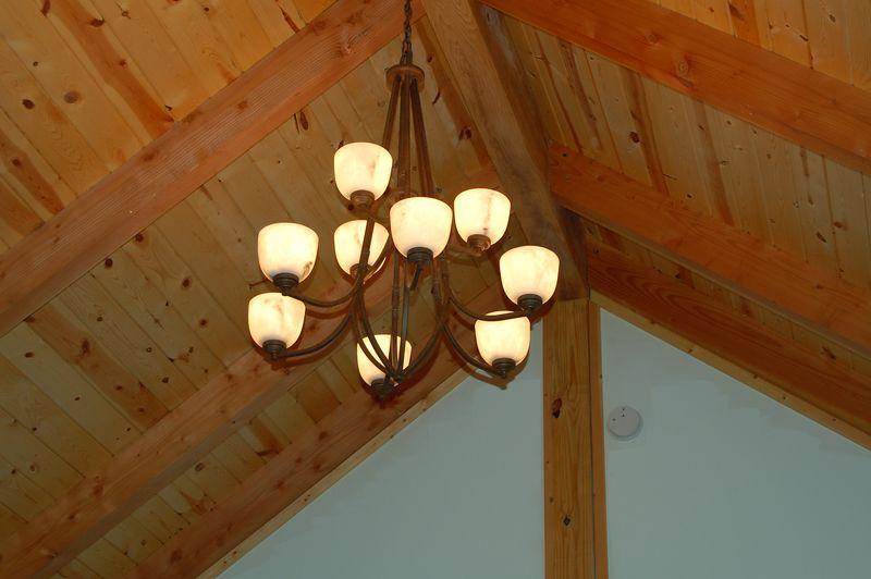 chandelier in dining room