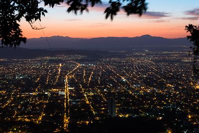 Glow lights of San Pedro Sula from  El Merendon National Forrest