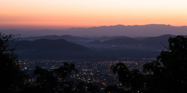Pre-dawn Vista of San Pedro Sula from  El Merendon National Forrest