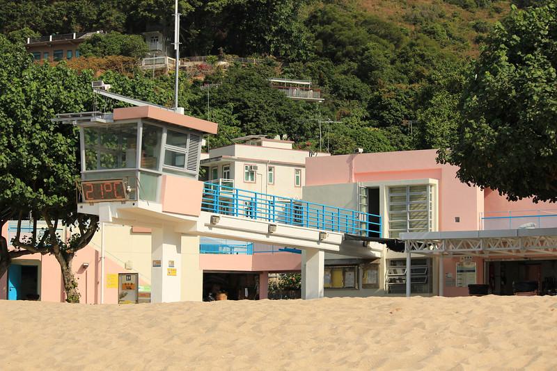 Lifeguard Tower at Hung Shing Ye beach, Lamma Island, Hong Kong