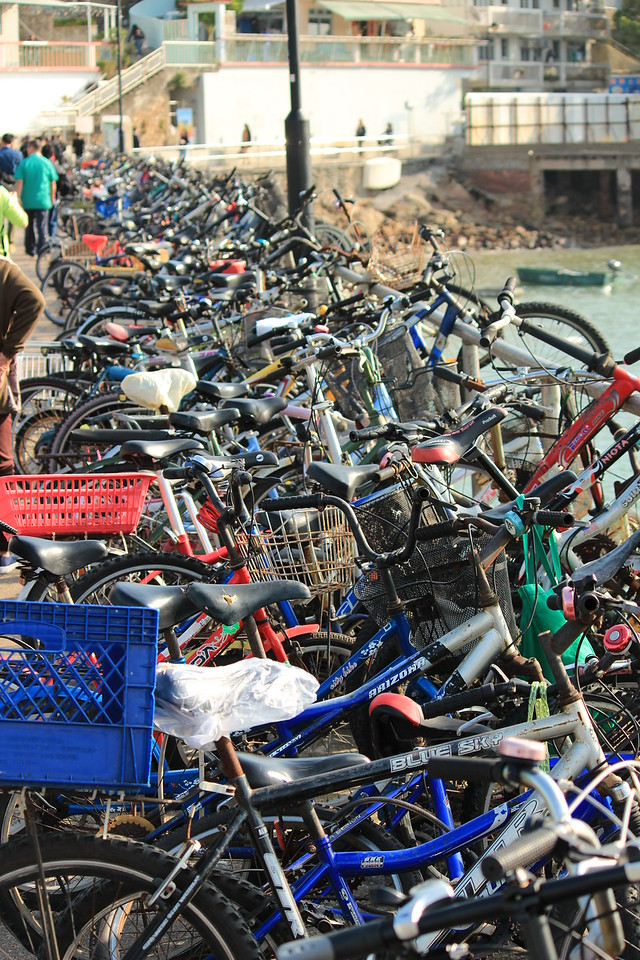 Bicycles Parked, Yung Shue Wan Ferry Jetty, Lamma Island, Hong Kong