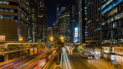 Nighttime in the Canyons of Finance Hong Kong, People's Republic of China 2015