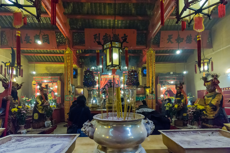 Altars, Man Mo Temple<br /> Hong Kong, People's Republic of China<br /> 2015