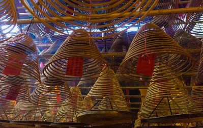 Burning Spirals of Incense Hong Kong, People's Republic of China 2015