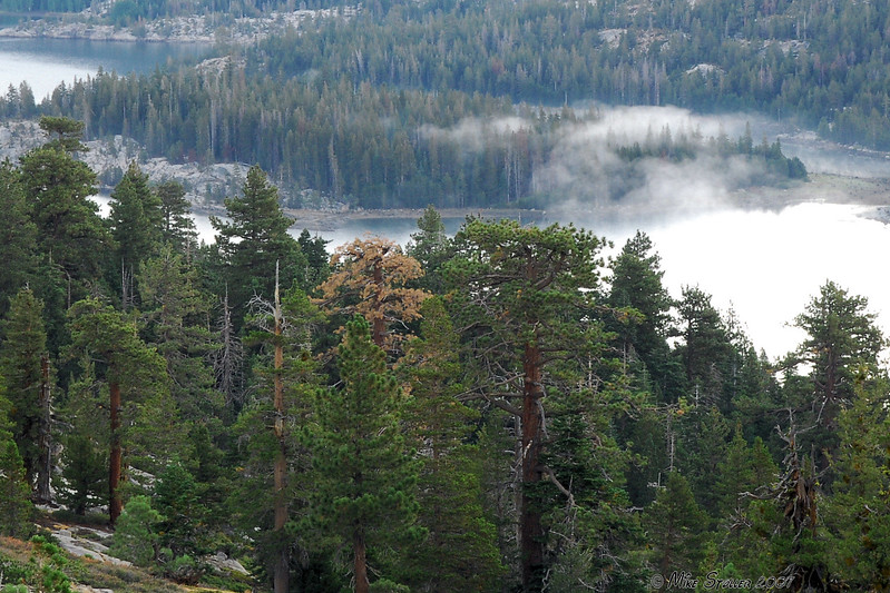 Silver Lake and morning mist.