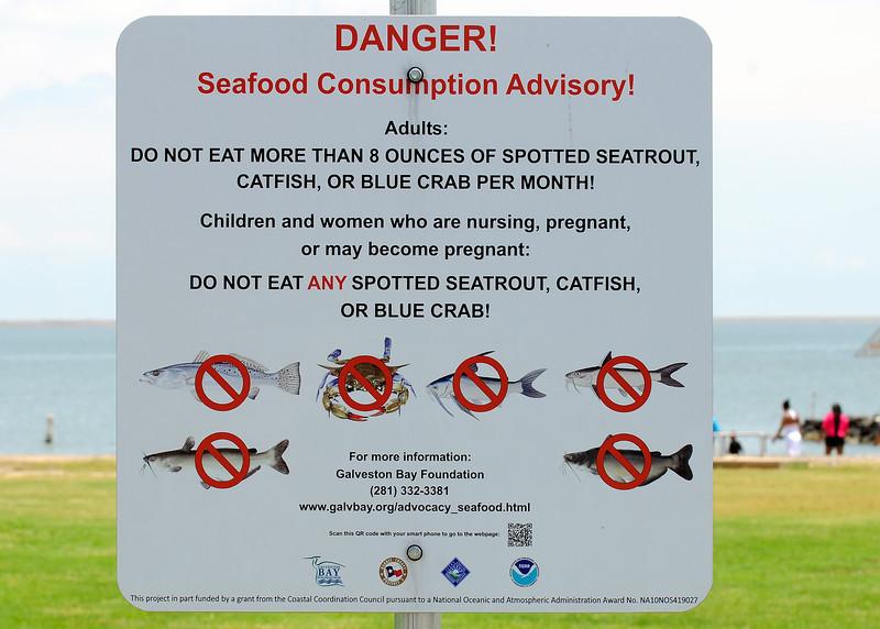 Don't eat the fish, Laporte, TX