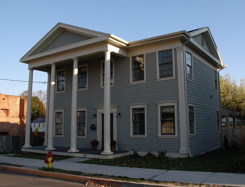 Laura's Hudson House.  A Greek Revival.