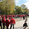 Husker fans headed toward downtown Lincoln to celebrate after a great day for football.
