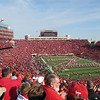 Saturday's attendance was 85,641.  We are in Section 18, Row 86.  A long way from the field, but still a great view.