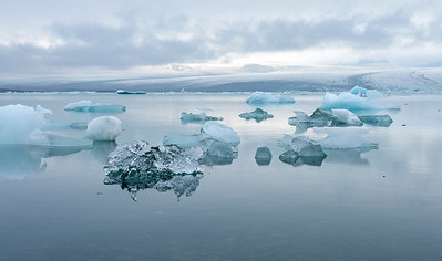 Jökusárlon (glacier lagoon) along the southern coast of Iceland