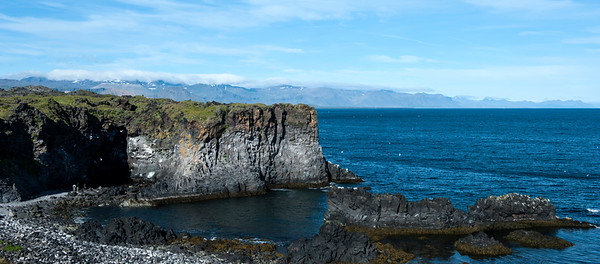 Hellnar Cover on Snæfellsnes Peninsula, great place to see birds.