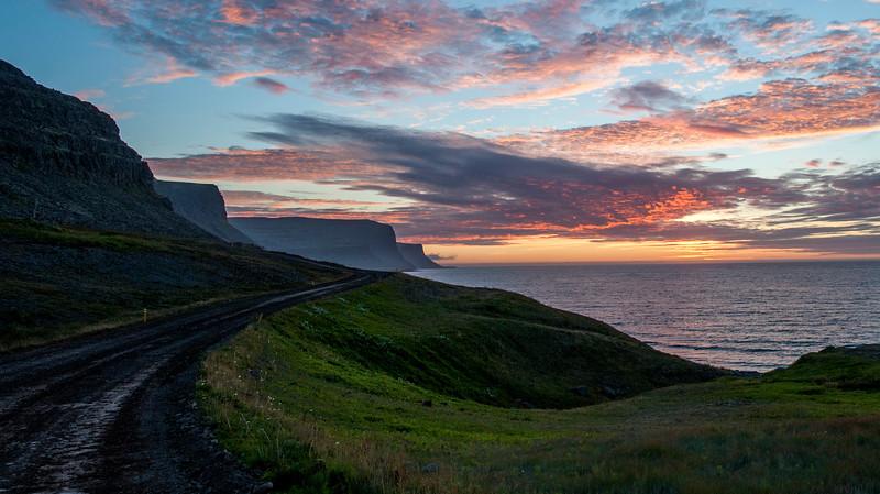 Landscape near the Latrabrag cliffs in Westfjourds, Iceland.