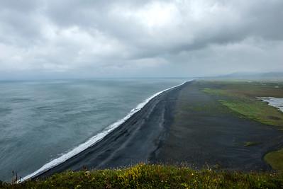 Vik coast, black sand beach