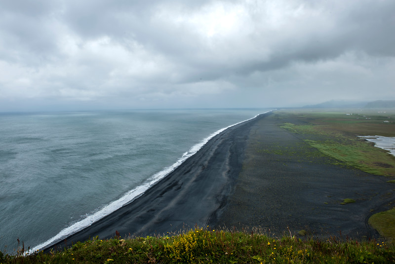 Vik coast, black sand beach