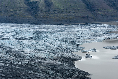 Glacier in Skaftafell National Park.